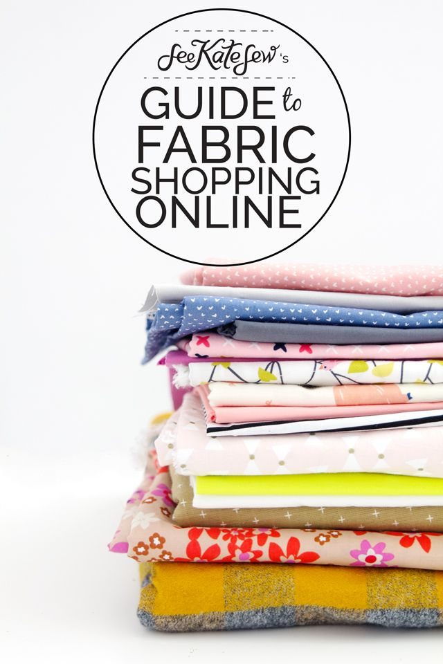 Where do you buy your fabric online? This is one of my most asked questions and I have been meaning to write it for months and months (years?)! Sometimes it's hard to step away from the sewing machi