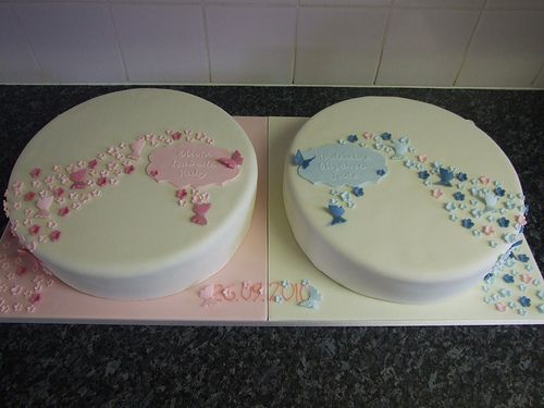 Twin Christening Cakes | Flickr - Photo Sharing!
