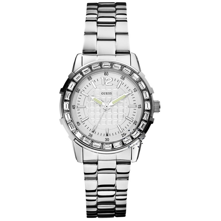 GUESS Crystal Total Stainless Steel Bracelet  155€  http://www.oroloi.gr/product_info.php?products_id=29276