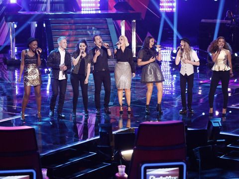 "We're live-blogging the ""The Voice"" Season 8 top eight results episode tonight!"