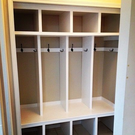 Closet to Mudroom Lockers | Do It Yourself Home Projects from Ana White