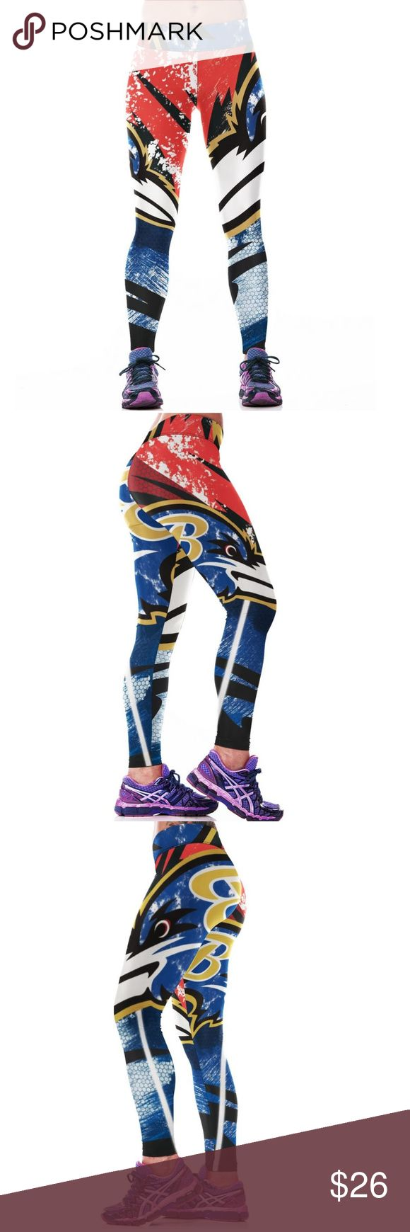 Baltimore Ravens NFL Leggings Root for your favorite team in these high quality NFL leggings! Perfect wardrobe addition while watching Sunday football games. The vivid colors and designs are sure to turn heads! Get a pair now while they last to show your team support every week as they inch their way to the glorious Super Bowl Condition: Brand New in Packaging Material: Spandex / Polyester Measurements:  (Length / Waist / Hip) S/M: 36 / 27.5-37 / 33-41.5 L/XL: 36.5 / 30–39.5 / 35.5-44 Price…