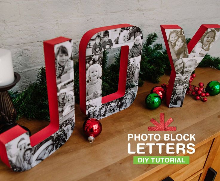 These DIY photo block letters are a surefire conversation starter at your holiday party.: