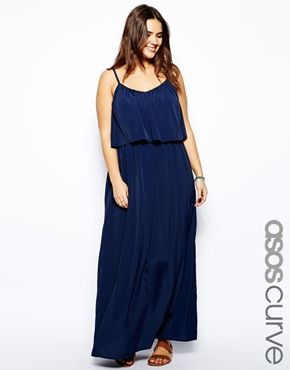 ASOS CURVE Cami Maxi Dress $72 (How many navy maxi dresses can a girl have? Because I have at least three.)