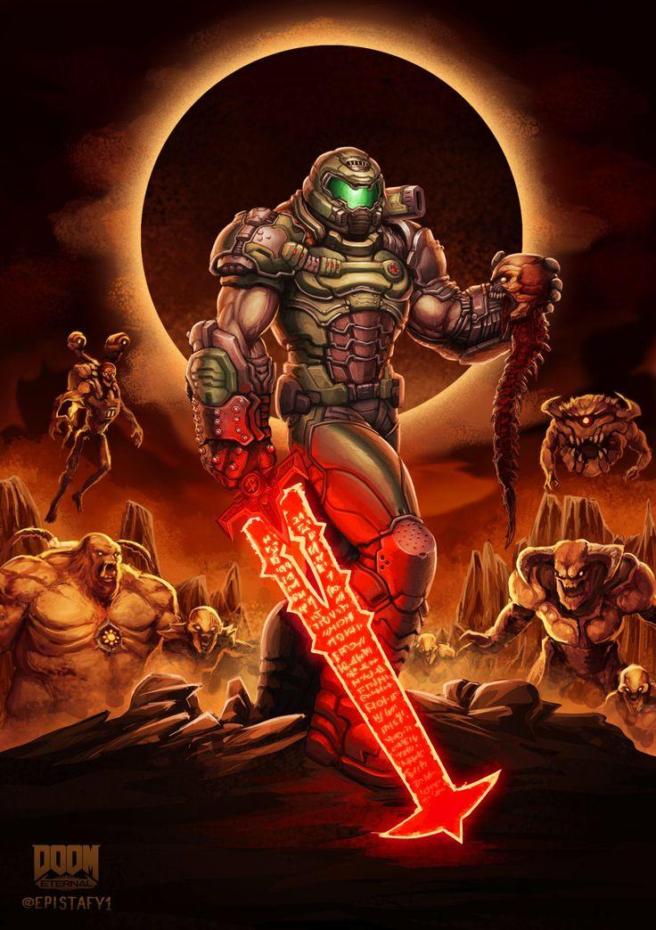 DOOM Eternal Fan art in 2020 Doom videogame, Doom, Doom game