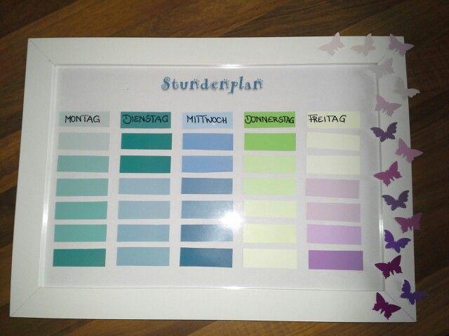 25 einzigartige stundenplan ideen auf pinterest lebens - Farbkarten kostenlos ...