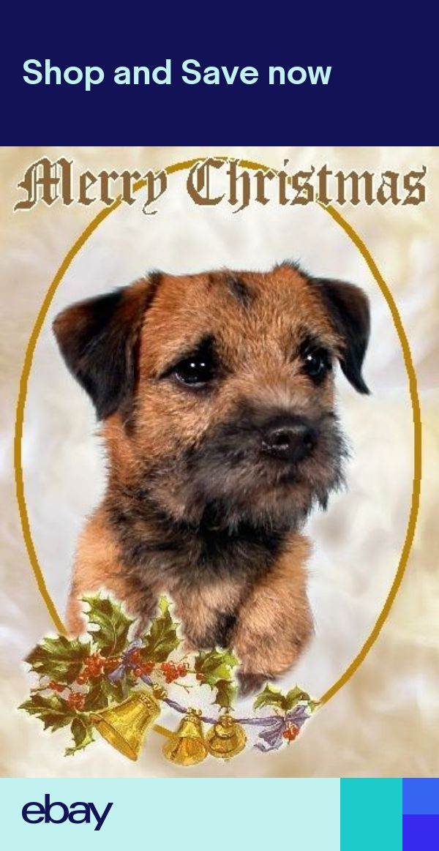border terrier dog a6 christmas card design xbordter5