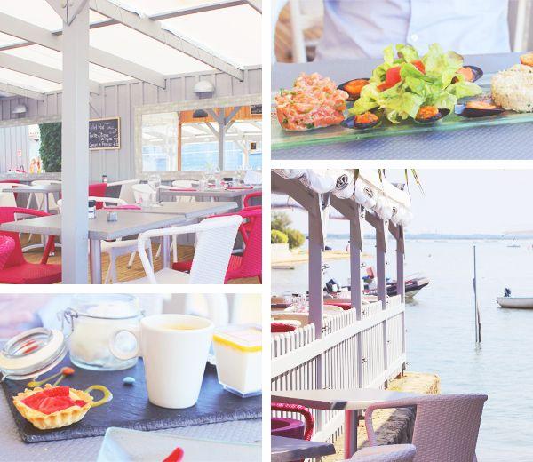 Restaurant Le Platane avec vue sur le Bassin