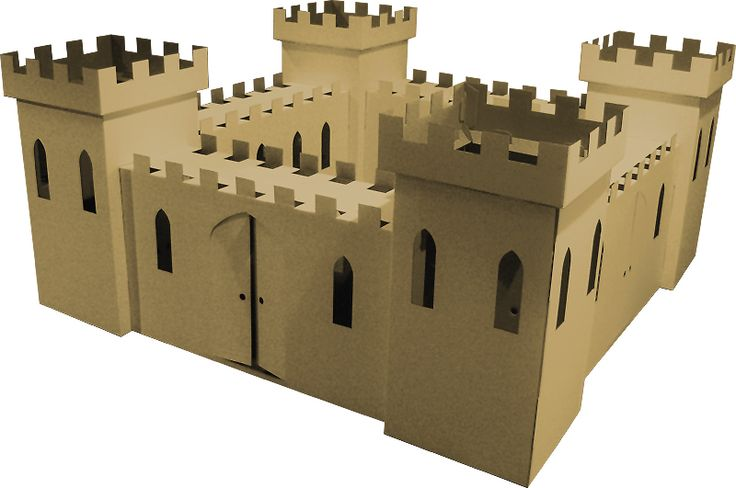 Cardboard play house designs cardboard castle playhouse for Castle made out of cardboard boxes