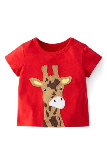 Mini Boden Animal Appliqué T-Shirt (Baby Boys) available at #Nordstrom  Boober is getting some mini boden this spring.