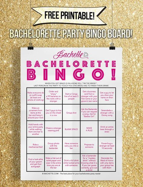 Free printable Bachelorette Bar Crawl Bingo game! bachelorette
