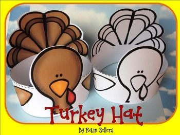 Turkey: Create a turkey hat this Thanksgiving , fall, or when you learn about turkeys in the classroom. This turkey craft includes a color and black and white version of the turkey craft. This is great if you do a costume parade in your class.
