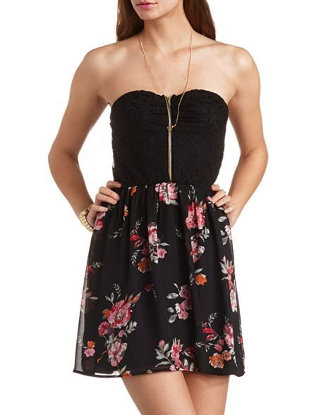 Pink and black dress charlotte russe
