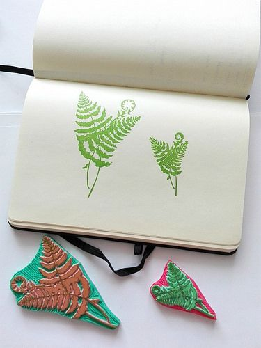 Ferns | rubber stamps | Ewa | Flickr