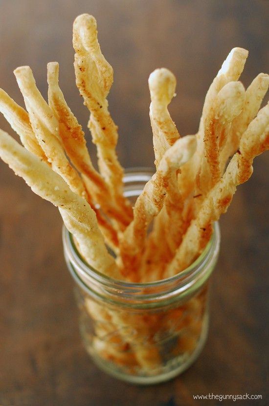 These crispy Italian breadsticks are perfect for serving with soup. Or use this recipe to make Parmesan cheese twists to serve as an appetizer!