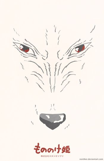 Princess Mononoke Moro Poster by Nortiker.deviantart.com on @deviantART