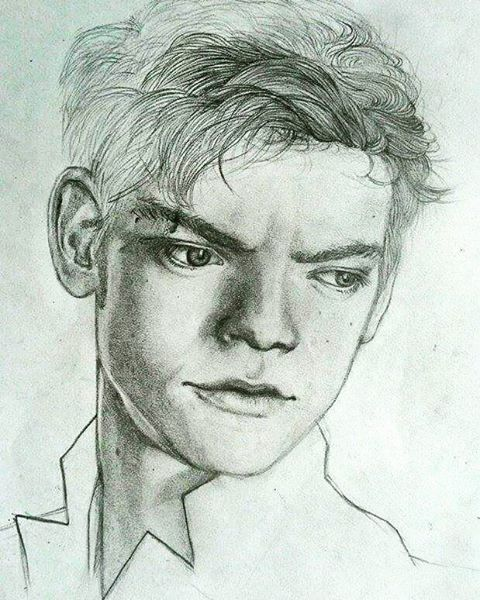 Thomas Brodie-Sangster portrait #thomassangster #pencil #drawing #art