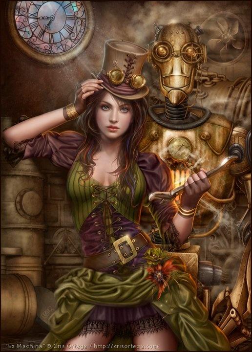 ♥: Art Illustrations, Cris Ortega, Steampunk Artworks, The Artists, Halloween Costumes, Digital Art, Steampunkart, Steam Punk, Tops Hats