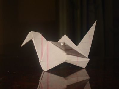 Origami Flapping Bird at origami-instructions.com