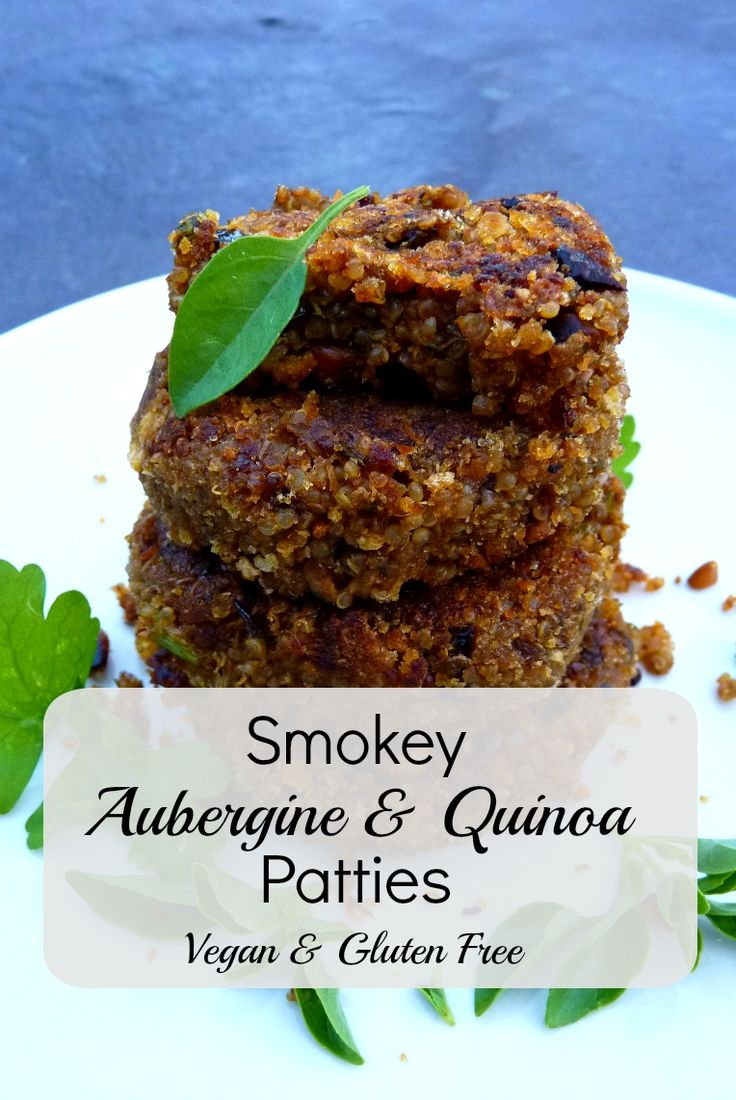 Smokey Aubergine & Quinoa Patties. All Vegan Recipe, & can be easily made gluten free.  These are so yummy & moreish, I'd make these again in a snap!