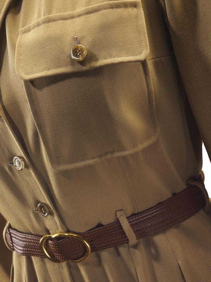 jumpsuit en gabardine de laine  Yves Saint Laurent Haute Couture, printemps-été 1975