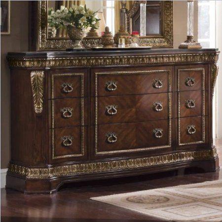 Amazon.com: Pulaski Pulaski Del Corto Nine Drawer Dresser: Furniture U0026 Decor