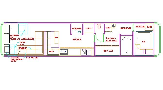 Image result for bus conversion floor plans floor plan for Convert image to blueprint online