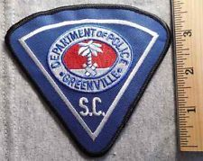 GREENVILLE SOUTH CAROLINA POLICE PATCH (HIGHWAY PATROL, SHERIFF, EMS, STATE)