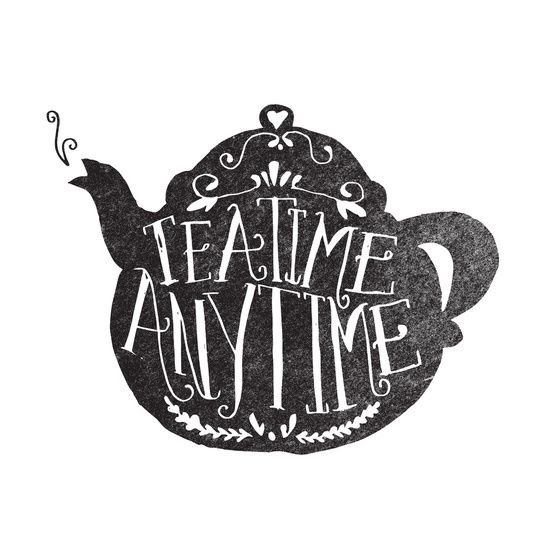 TEA TIME. ANY TIME. by Matthew Taylor Wilson (society6)