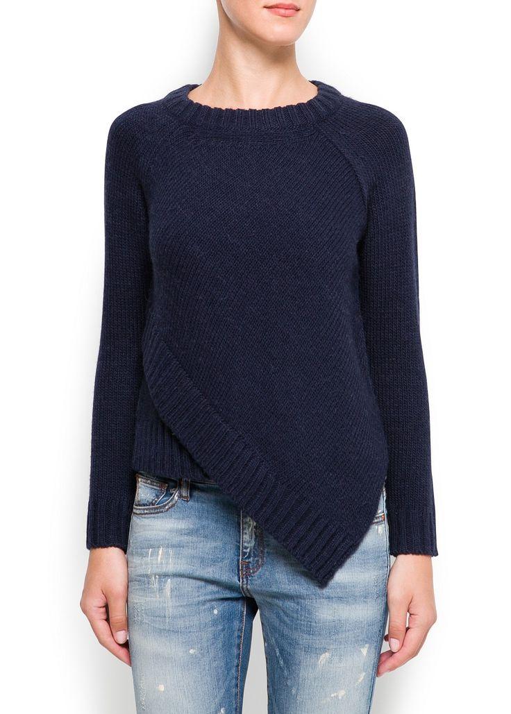Asymmetrischer pullover -  Damen | MANGO Deutschland