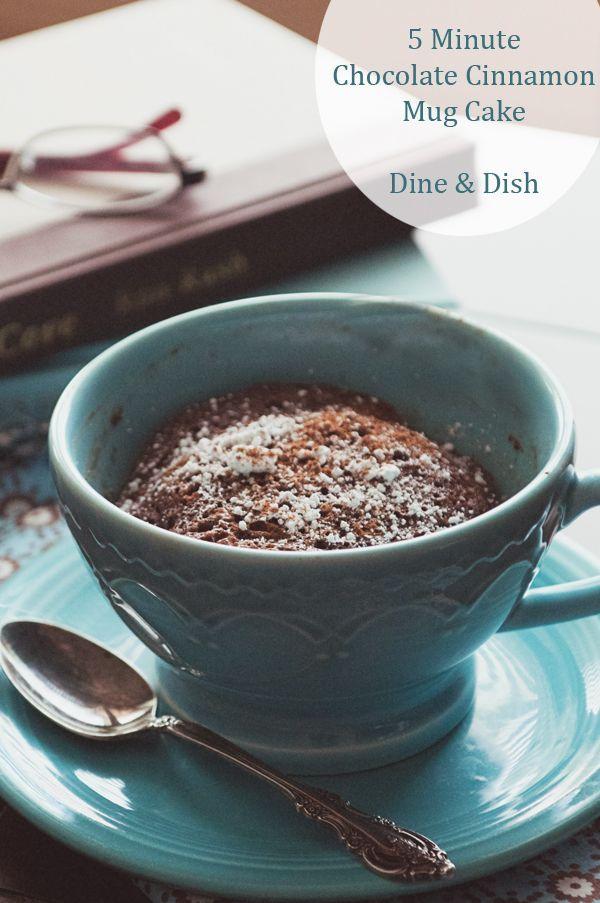 5 Minute Chocolate Cinnamon Mug Cake - dineanddish.net