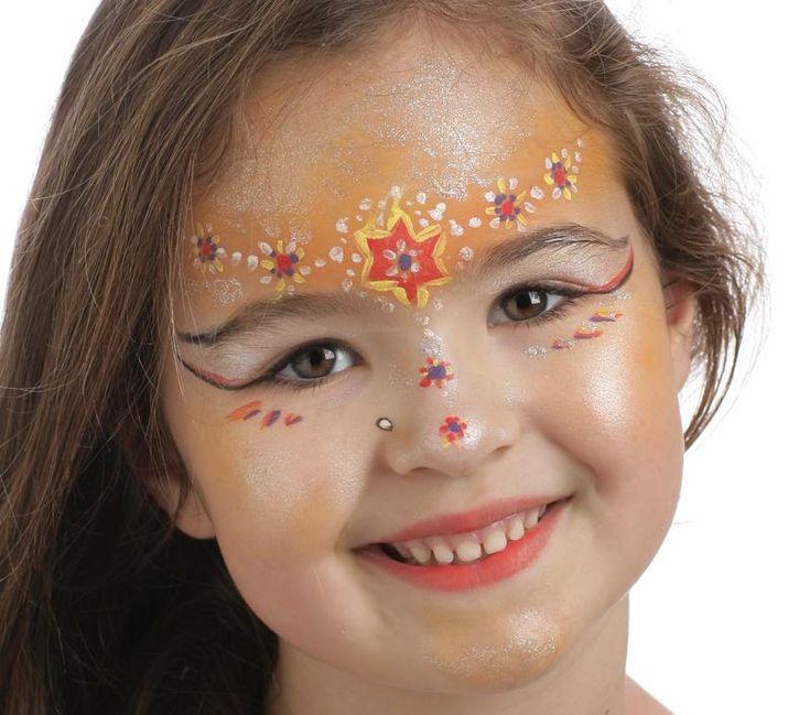 Grimtout, maquillage à l'eau, princesse bijoux, Etape 4