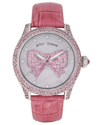 Betsey Johnson Watch, Women's Breast Cancer AwarenessBreast Cancer Awareness, Betseyjohnson, Watches Women, Leather Straps, Pink Leather, Jewelry, Johnson Watches, Betsey Johnson, Watch Women