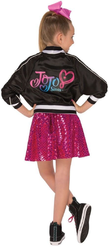 16e07fc0231 JoJo Siwa 3 PC Girls Outfit Bomber Jacket Sequin Skirt   Bow L 12-14 for  8-10 yr  JoJoSiwaLicensed