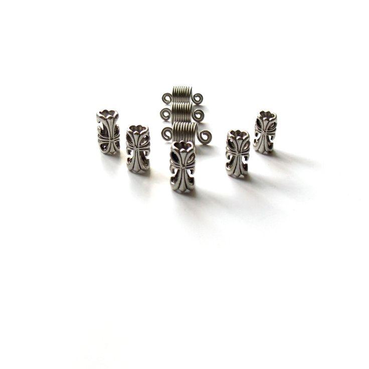 Sisterlocks jewelry Charm Tibetan silver hair beads Heavy metal Dread cuff coils beads Dreadlocks jewelry Rocker Hair Accessories (10.00 USD) by IvoStyleLine