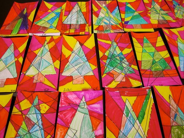 Xmas Art And Craft Ideas For Kids Part - 48: Christmas Tree Art Projects | ... U201c Kids Artists Blog U201d For This Project