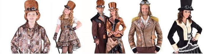 Déguisement steampunk adulte et enfant, déguisement steampunk femme, homme fille et garçon, accessoires steampunk, chapeau steampunk, lunettes steampunk et bijoux steampunk pour créer un look rétrofuturiste et stylé.