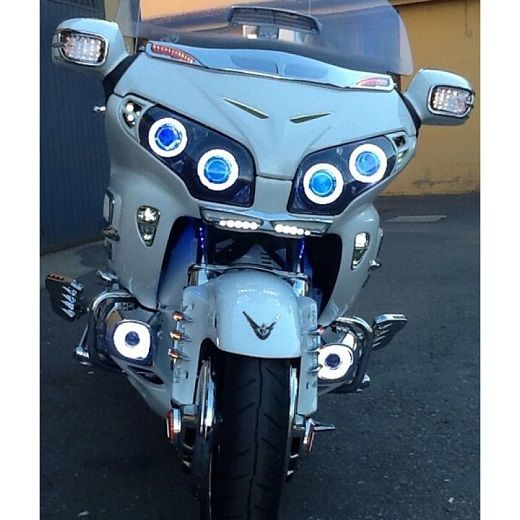170 best goldwing images on pinterest biking motorbikes and honda honda goldwing gl1800 projector headlight with blue demon eyes fandeluxe Gallery