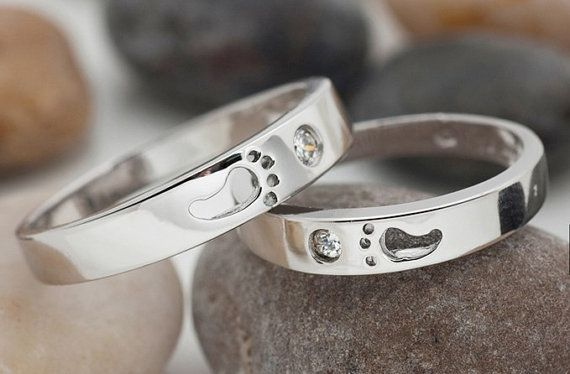 Footed Rings Couple Rings His and Her Rings by UloveFashionJewelry, $10.38