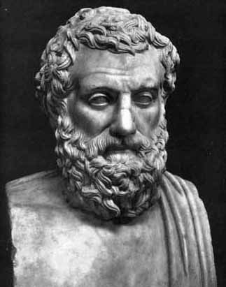 Aeschylus (c. 525/524 – c. 456/455 BCE) was  first of three ancient Greek tragedians whose plays can still be read or performed, others being Sophocles  Euripides. He is often described as father of tragedy: our knowledge of genre begins with his work  our understanding of earlier tragedies is largely based on inferences from his surviving plays. He expanded number of characters in plays to allow for conflict amongst them, whereas previously characters had interacted only with chorus.