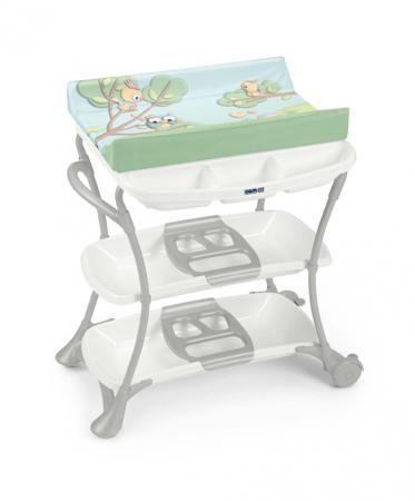 CAM Пеленальный стол Nuvola  — 9500р. -------------------------- Cam Nuvola - пеленальный столик с оригинальным дизайном, мягкой обивкой и находящейся под ней емкостью для купания ребенка. Столик оснащен удобной ванночкой, которую можно использовать как с самого рождения от 0 до 6 месяцев, так и позже. Он имеет систему безопасности, предотвращающую складывание изделия, располагает двумя полочками для детских вещей, подносами для детских принадлежностей, расположенными под пеленальным…