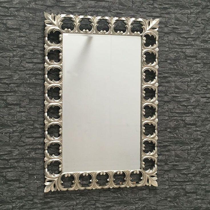 Bianca Champagne Silver Wall Mirror - 101 x 152 cm