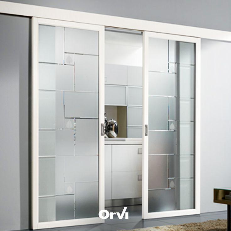 Orvi Living è... porte a vetro scorrevoli personalizzabili e made in Italy