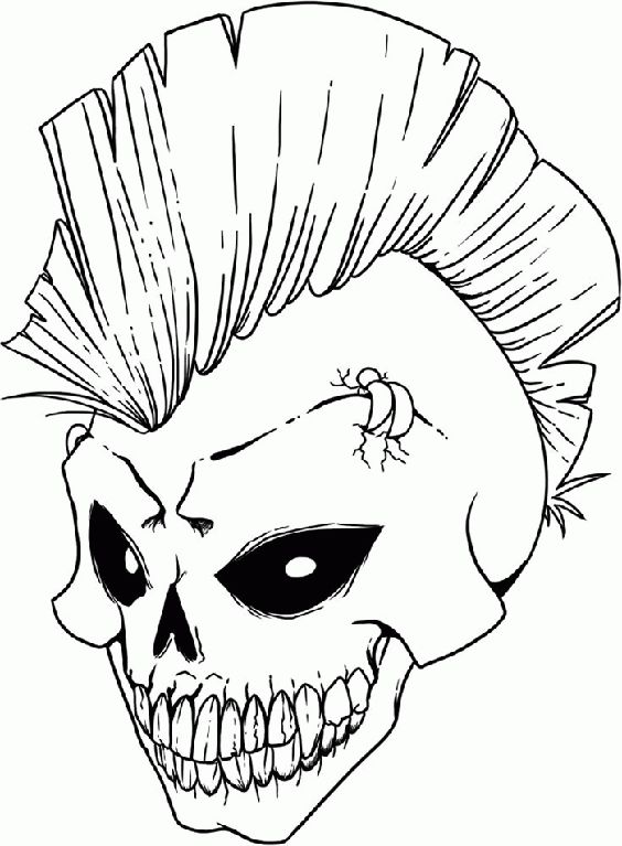 Gangster Skull Coloring Pages Coloring Coloring Pages