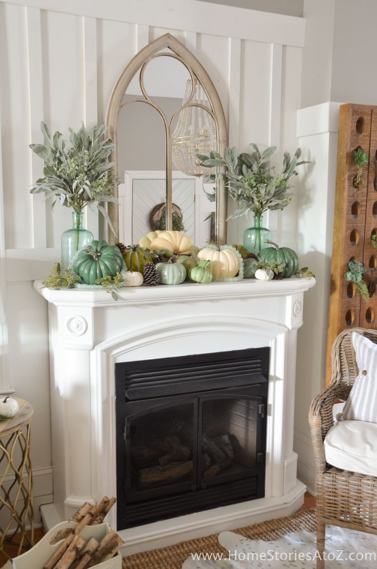 Charming fall mantel decor falldecor homechanneltvcom 137