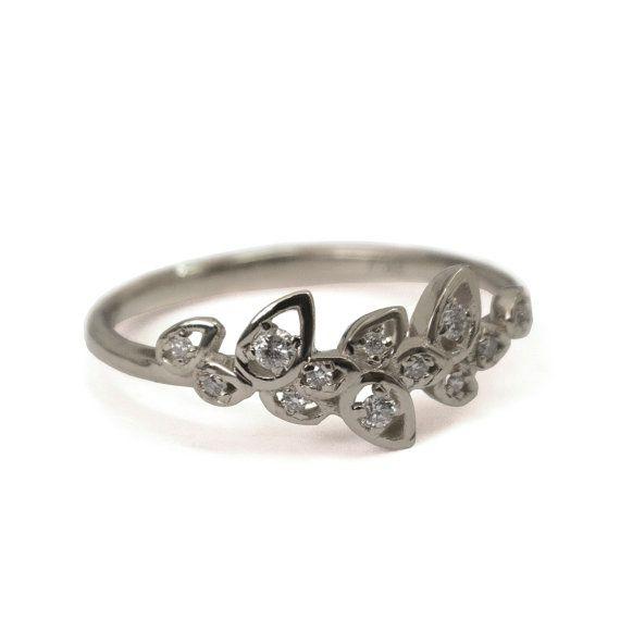 Verlovingsring  Bloem ring 14k gouden ring door DORONMERAVCLASSICS