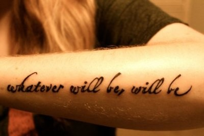 Wouldn't ever get as a tattoo, but the saying can't be anything but something that should be put permanently in my consciousness.