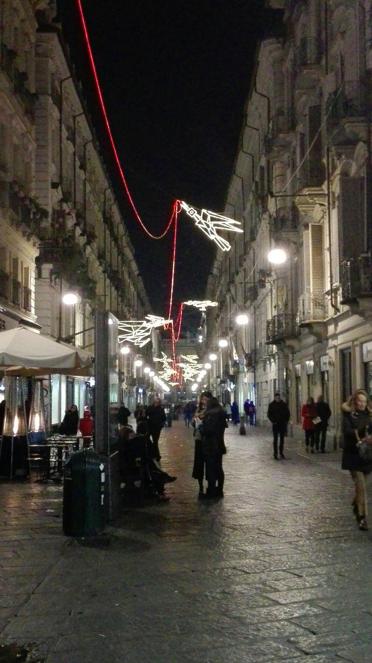 Luci d'artista. Via Garibaldi Torino