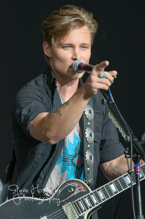 Country Star Frankie Ballard in Concert in Denver, opening for Rascal Flatts at Fiddlers Green Amphitheater in Denver Colorado July 16, 2014.  © Steve Hostetler All Rights Reserved.