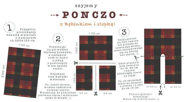 Ponczo - tutorial krok po kroku :) | How to sew a poncho?